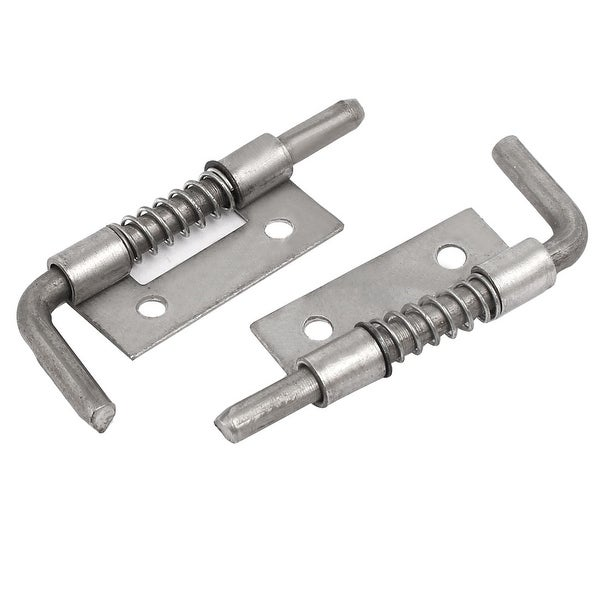 Cabinet Cupboard Door Spring Loaded Barrel Bolts Hinge Latch Silver Tone 2pcs Free Shipping On Orders Over 45 17609326
