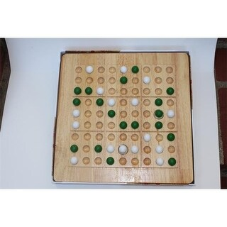 Mad Cave Games 1022 Tic-Tac-Ku Solid Wood Game Green And White