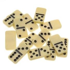 Plastic Mini Domino Jewelry Pendant Tiles Rectangle 27.5x13.5mm (14)