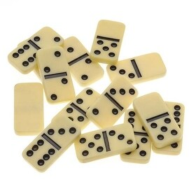 Plastic Mini Domino Jewelry Pendant Tiles Rectangle 27.5x13.5mm (14)