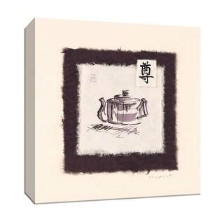 "PTM Images 9-151909  PTM Canvas Collection 12"" x 12"" - ""Plum Tea"" Giclee Asian Textual Art Print on Canvas"