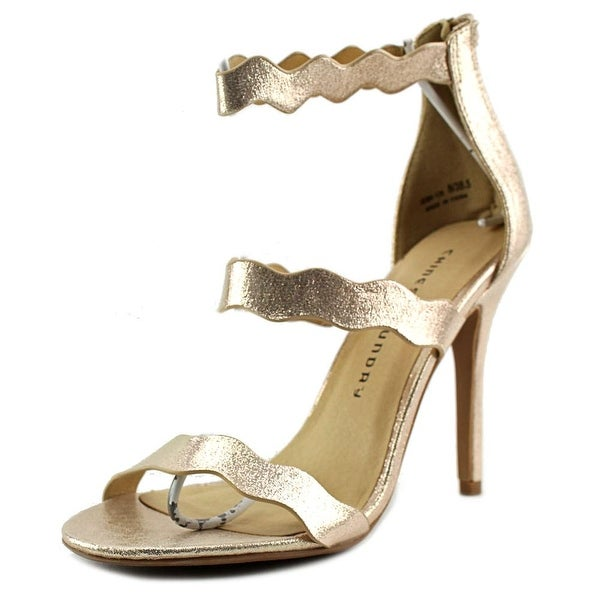 Chinese Laundry Z-Jansen Women Open Toe Canvas Gold Sandals