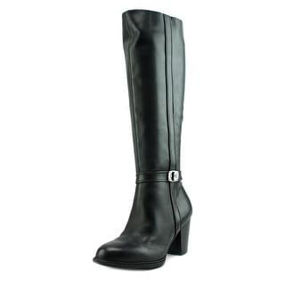 Giani Bernini Raiven Women  Round Toe Leather Black Knee High Boot