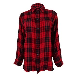 Polo Ralph Lauren Women's Plaid Long Sleeve Shirt - m