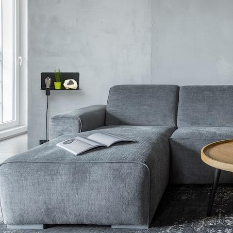 Functional Series 1-Light Black Plug-In Wall Sconce Shelf