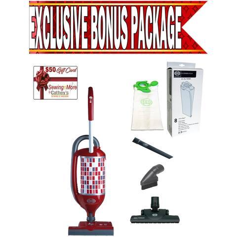 Sebo 9809AM Felix 1 Premium Red Upright Vacuum Cleaner w/ Exclusive Bonus Package!