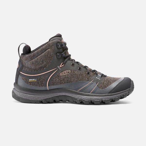 Keen Terradora Mid WP, Women's Waterproof Trail-running Shoe, Raven/Rose Dawn - raven/rose dawn