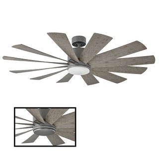 Link to Windflower 60 Inch 12 Blade Indoor / Outdoor Smart Ceiling Fan with Six Speed DC Motor and LED Light. Similar Items in Pendant Lights