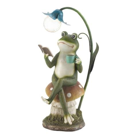 Solar Frog Garden Decor