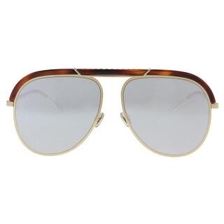 Christian Dior DIORDESERTIC 02IK Havana Gold Aviator Sunglasses - 58-14-145