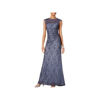 X by Xscape Womens Evening Dress Cap Sleeves Full-Length