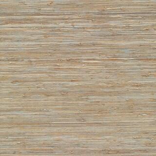 Brewster 63-65437 Isami Light Blue Grasscloth Wallpaper