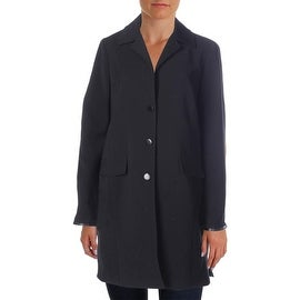 Jones New York Womens Faux Trim Outerwear Coat - L
