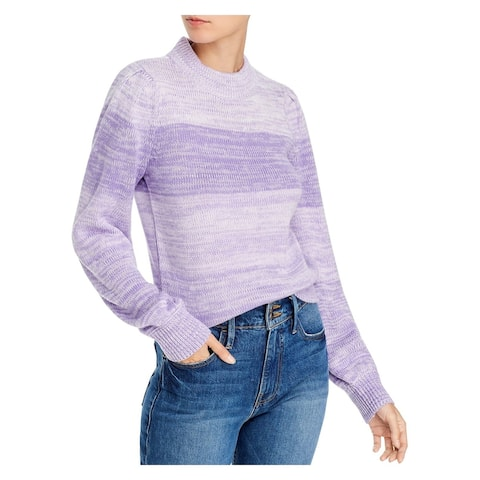 AQUA Womens Purple Long Sleeve Crew Neck Sweater Size S