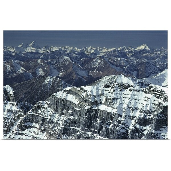 """""""View from Mt. Temple Banff National Park Alberta, Canada"""" Poster Print"""