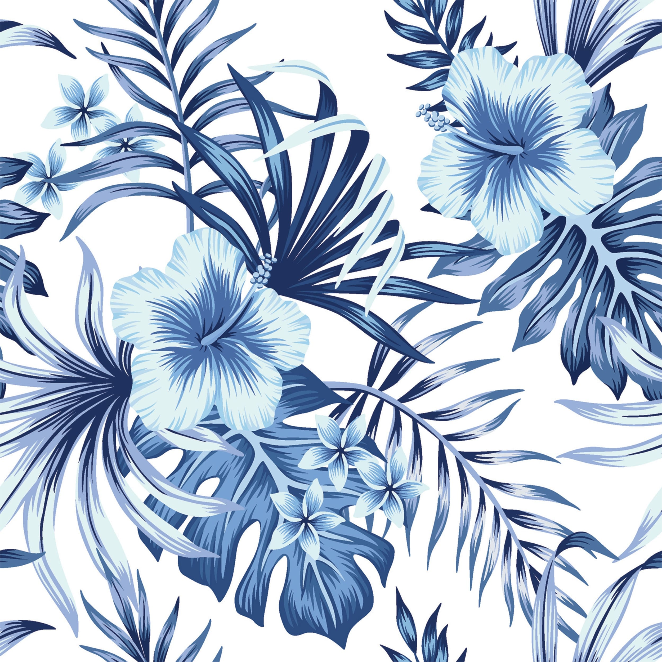 Hibiscus Plumeria Floral Blue Palm Leaves Removable Wallpaper 24 Inch X 10 Ft Overstock 31809399 Feel free to send us your own wallpaper and we will consider adding it to appropriate category. hibiscus plumeria floral blue palm leaves removable wallpaper 24 inch x 10 ft