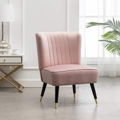 Elon Contemporary Velvet Upholstered Accent Chair