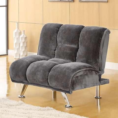 Furniture of America Gier Contemporary Champion Fabric Futon Chair