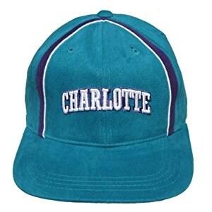 Vintage Charlotte Hornets Sports Specialties Adjustable Snapback Hat - Teal