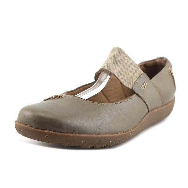 Clarks Medora Elie Women W Round Toe Leather Gray Mary Janes