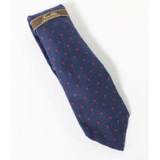 Tasso Elba NEW Blue Red Mens One Size Seasonal Dot Classic Neck Tie