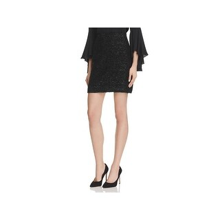 Milly Womens Mini Skirt Lurex Tweed