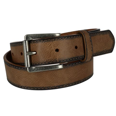 G Bar D Kids Leather Burnished Edge Belt