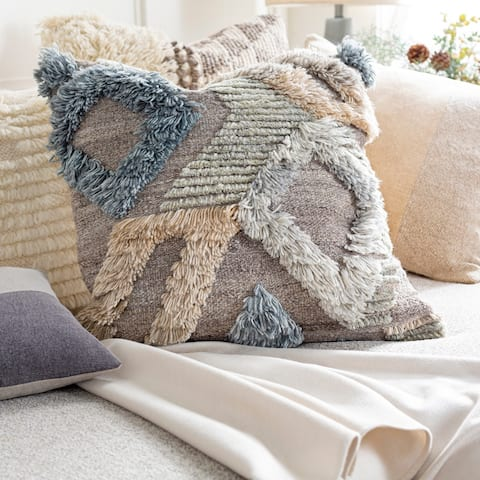 Brandt Boho Hand Knotted Throw Pillow