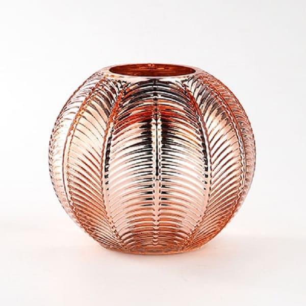 "6"" Copper Finish Handblown Glass Tabletop Decor - N/A"