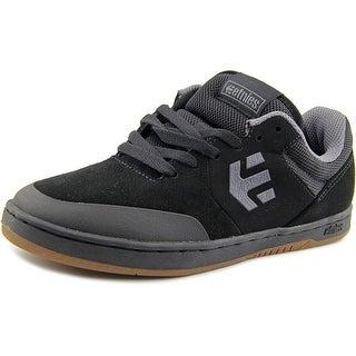Etnies Marana Men Round Toe Suede Black Skate Shoe