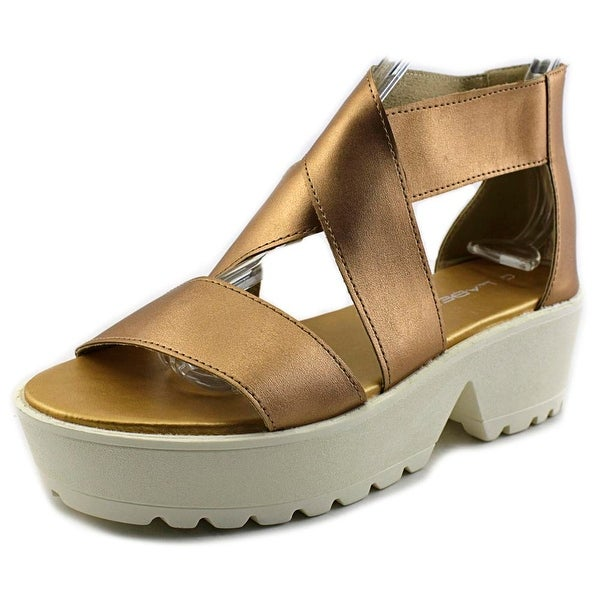 C Label Darla 2 Open Toe Synthetic Platform Sandal