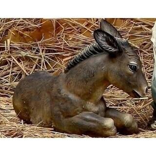 "27.5"" Joseph's Studio Seated Donkey Christmas Nativity Statue - brown"