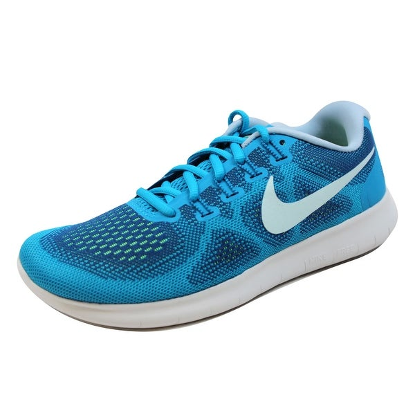 promo code c5c04 cacf3 Shop Nike Women's Free Run 2017 Gym Blue/Glacier Blue 880840 ...