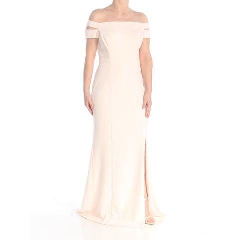 RALPH LAUREN Womens Pink Slitted Off Shoulder Body Con Evening Dress Size: 8