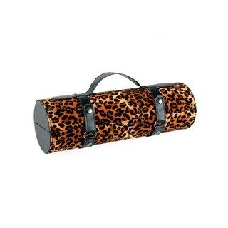 "13.25"" Fashion Avenue Stylish Brown Leopard Print Wine Bottle Carrier Purse"