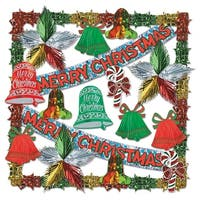 Merry Christmas Metallic and Prismatic Holiday Decorating Kit 20 Count