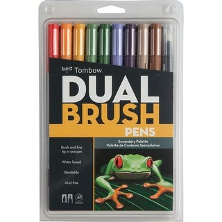 Tombow Dual Brush Markers 10/Pkg-Secondary