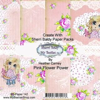 """My Besties Single-Sided Paper 6""""X6"""" 8/Pkg-Pink Flower Power"""