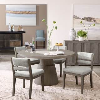 Link to Round Grey Oak Dining Table with Round White Marble Inset Similar Items in Dining Room & Bar Furniture