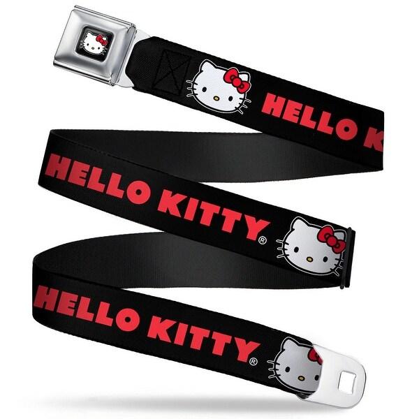 Hello Kitty W Red Bow Full Color Black Hello Hitty Black Red Webbing Seatbelt Belt