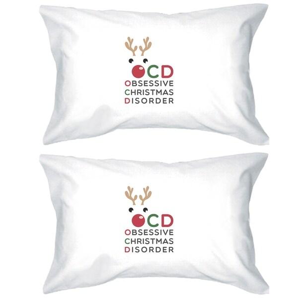Rudolph OCD Cotton Pillowcases Queen Size Christmas Gift