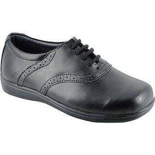 Schoolmates Girls' 6098 Black Leather