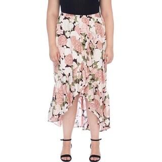 Bobeau Larz Plus Size Floral Skirt