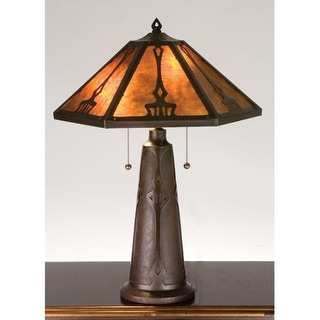 Meyda Tiffany 78067 Craftsman / Mission Accent Table Lamp from the Grenway Collection