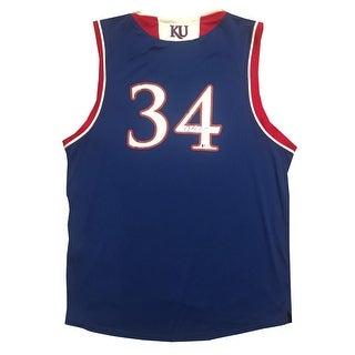 Paul Pierce Autographed Kansas Jayhawks Signed Basketball Jersey Beckett BAS COA