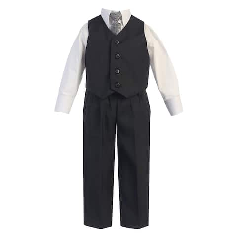 62a98b4d5 Little Boys Dark Gray Vest Pants Special Occasion Easter Outfit Set 2-7