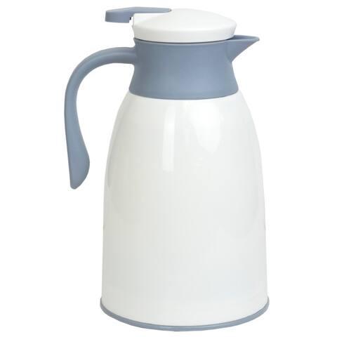1 Liter Insulated Plastic Carafe, White