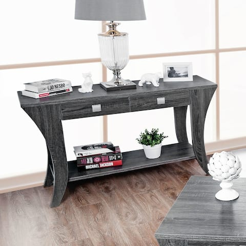 Furniture of America Werc Contemporary Grey Sofa Table