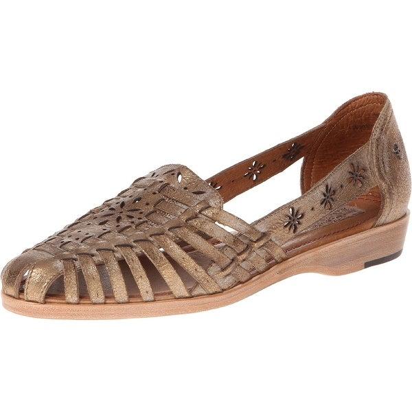 Trask NEW Gold Women's Shoes Size 7.5M Haley Metallic Huarache