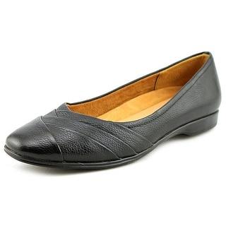 Naturalizer Jaye Women WW Round Toe Leather Black Flats